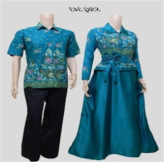 Dress Batik Couple Untuk Pesta