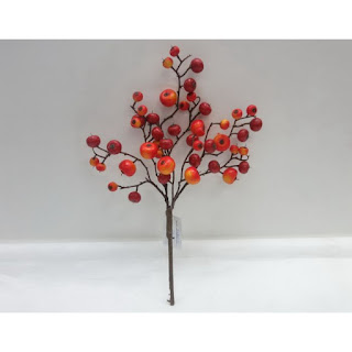 orange fall berry craft stem