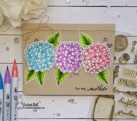 For my mother by Andrea features Lovely Blooms by Newton's Nook Designs; #newtonsnook