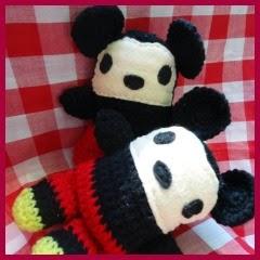 Almohadones Mickey amigurumi