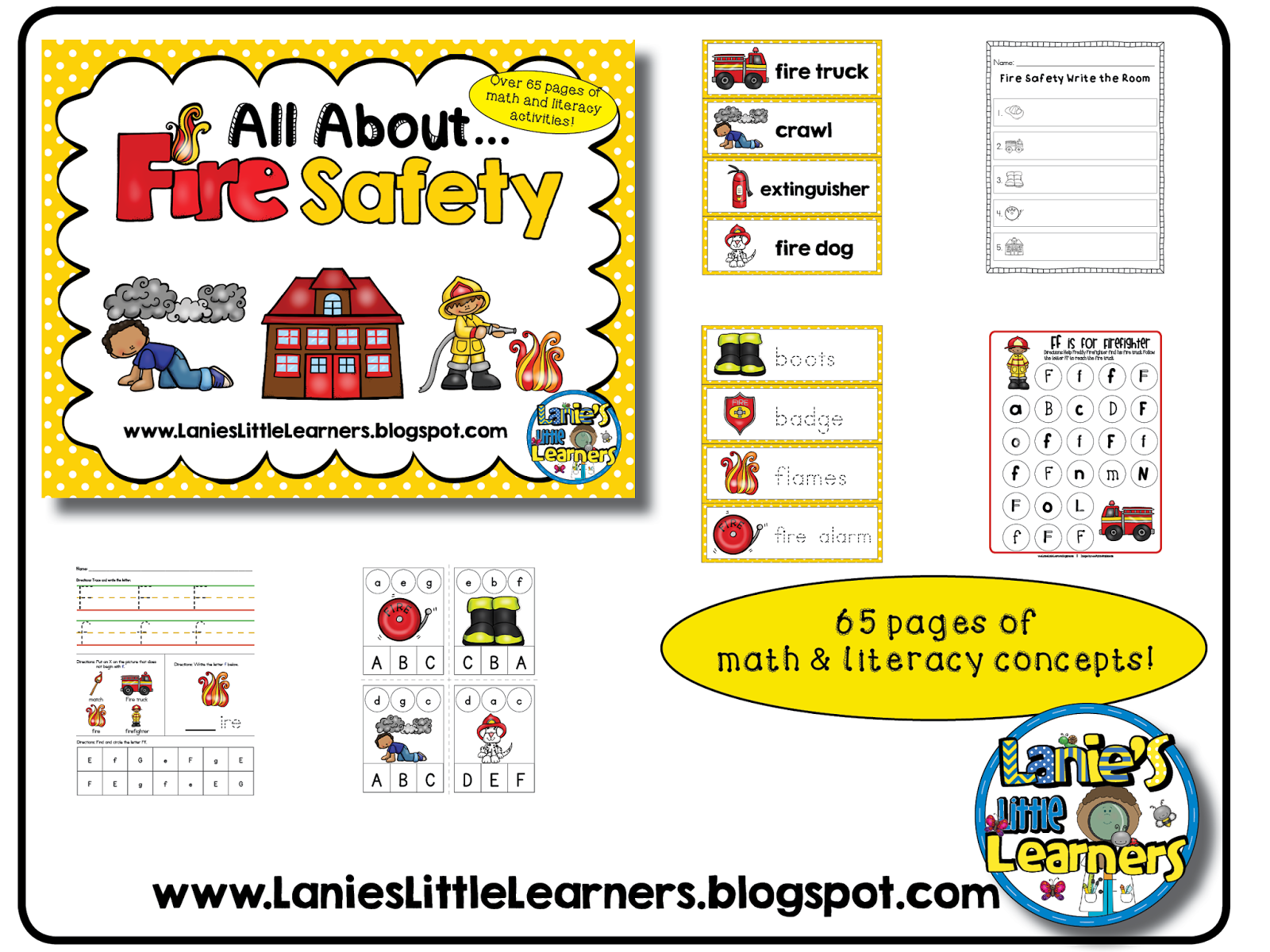 Lanie S Little Learners All About Fire Safety