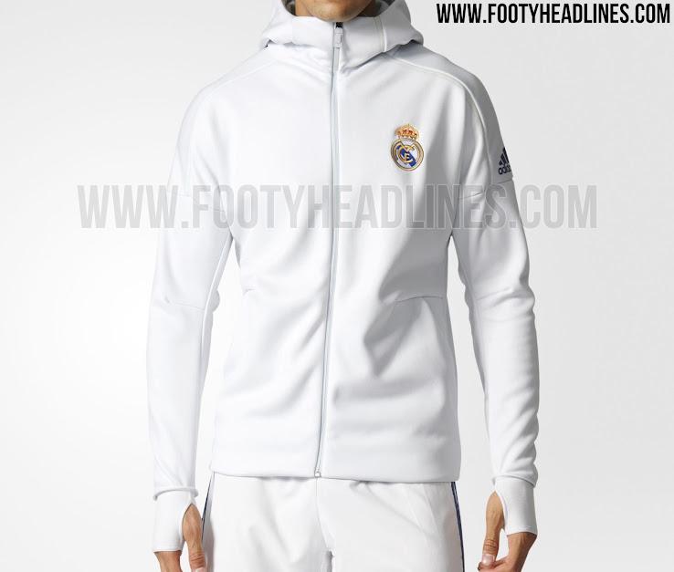 Detalles de Adidas Real Madrid Chaqueta de Deporte Blanco