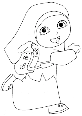 Gambar untuk mewarnai anak muslim - 3