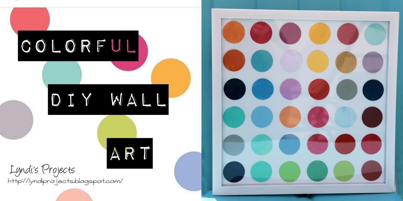 colorful circle wall art, how to make modern colorful wall art