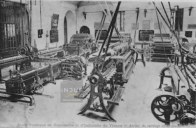 Ecole pratique de commerce et-d'industrie de Vienne - Atelier de cardage et-de filature