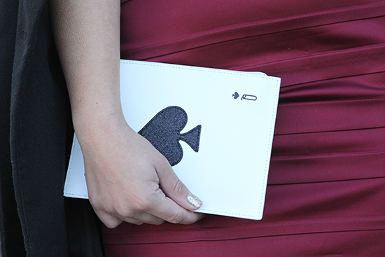 Kate Spade Queen of Clubs Hearts Wristlet