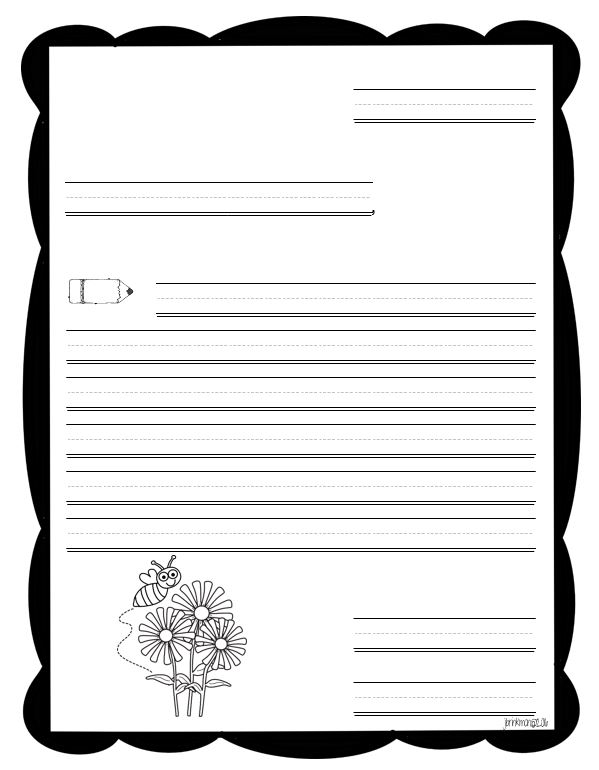 Letter writing template for 1st grade veterans day for Letter writing template for first grade