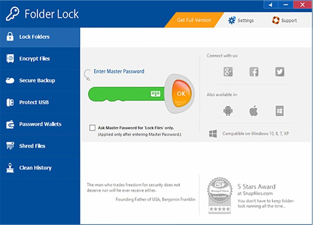 Folder Lock 7.7.0 Free Download - Everything In Here
