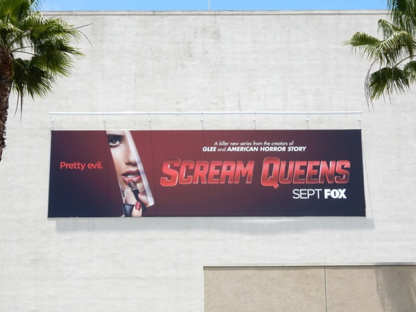 Scream Queens series lipstick billboard