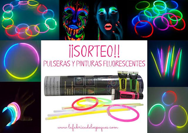 Sorteo de pulseras y pinturas fluorescentes