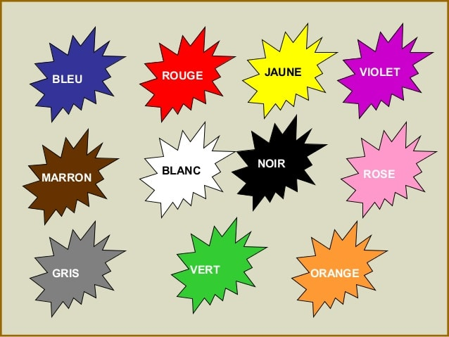 Expressions avec des couleurs