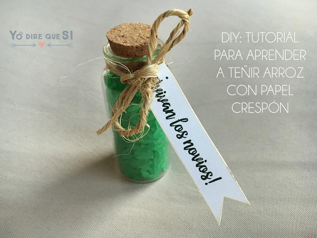 Tutorial: Cómo teñir arroz para tu boda con papel crespón (DIY)