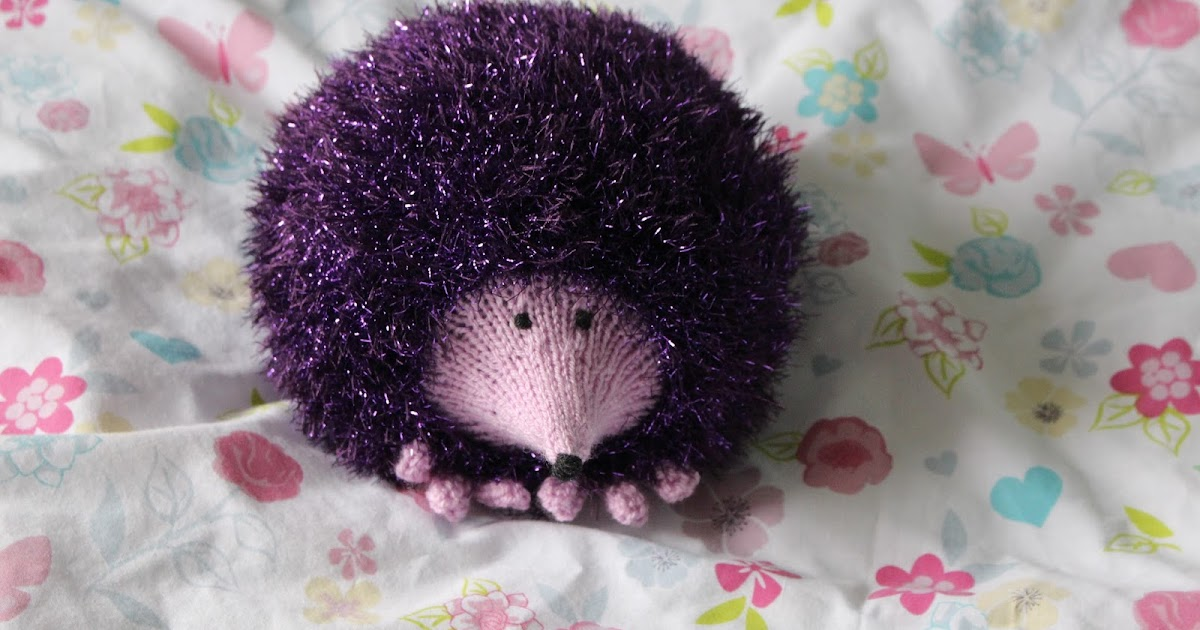 Sparkly Hedgehog Knitting Pattern : Christine65: Sparkly, Shiny Hedgehogs
