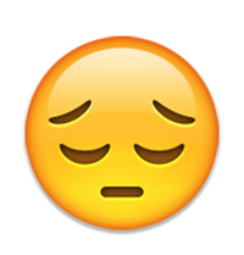 Resultado de imagen de emoji decepcionado png
