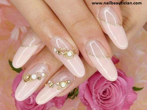 Stones nail art