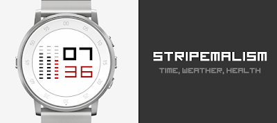Stripemalism watchface for Pebble Time Round