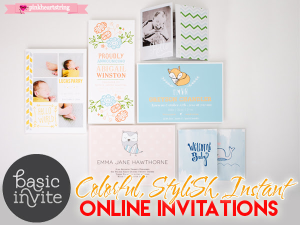Basic Invite Colorful and Stylish Instant Online Invitations for All Occasions