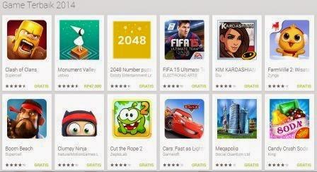 daftar aplikasi game android terbaik 2014