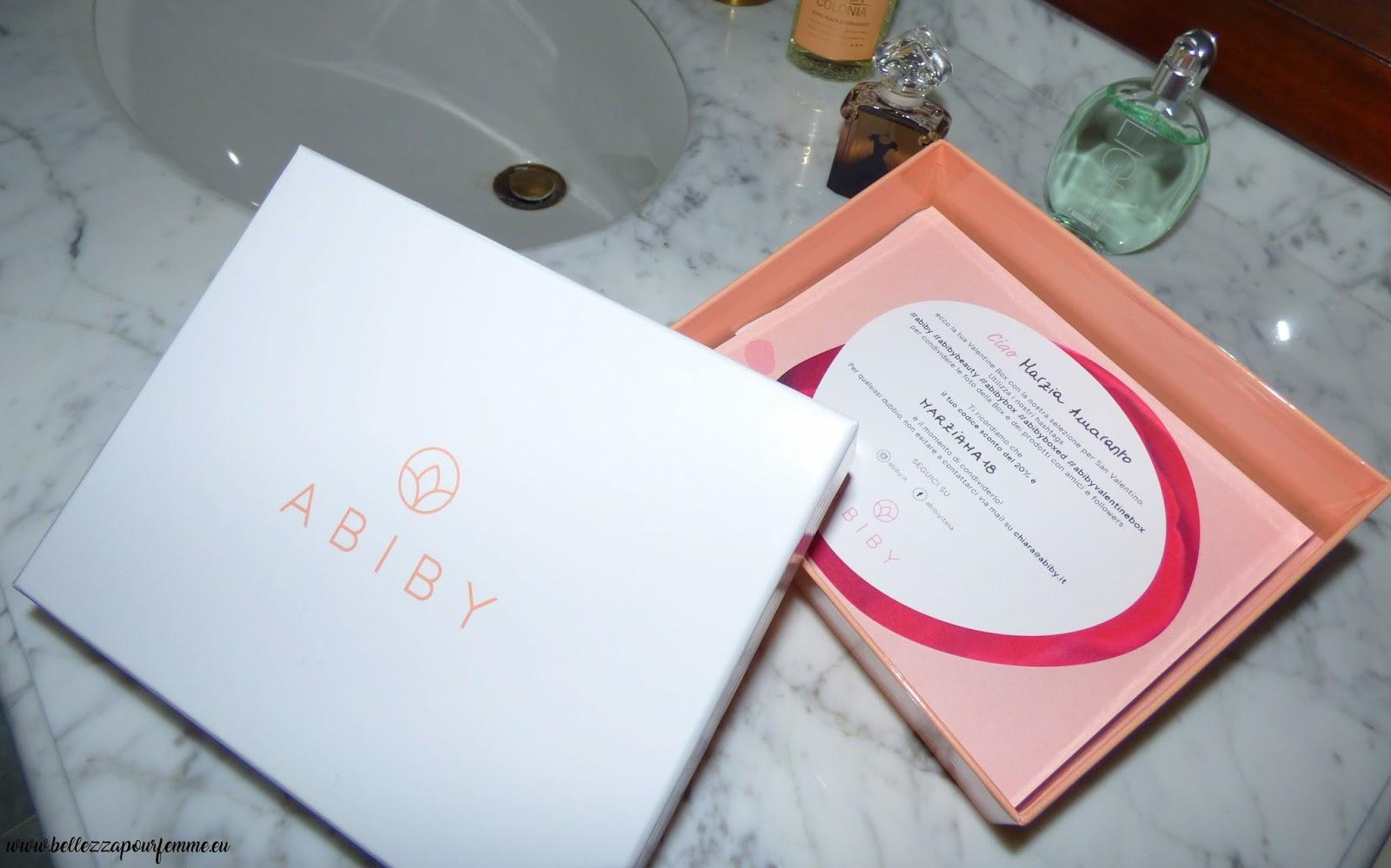 Bellezza high cost a piccoli prezzi con Abiby e la Valentine's Box!