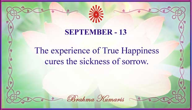 Thought For The Day September 13