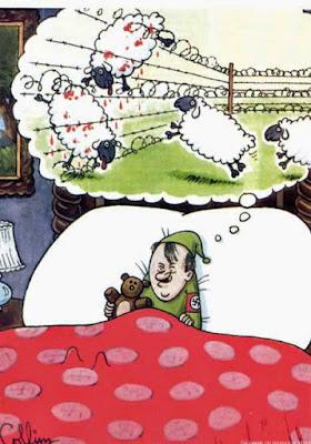 Adolf Hitler schläft im Bett - lustiges Schafe zählen zum einschlafen