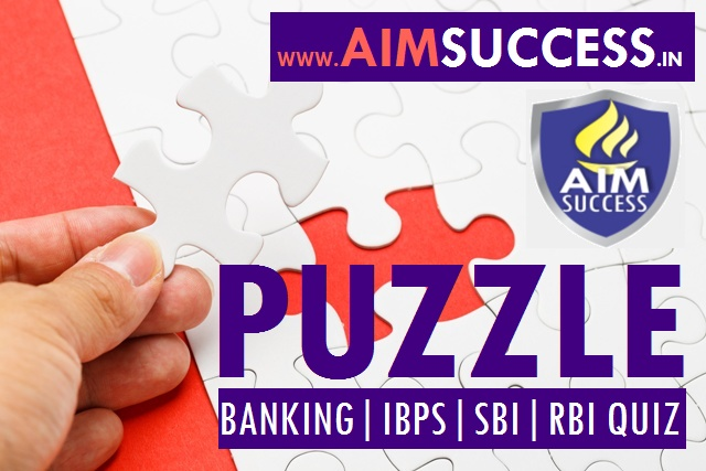 Puzzle  for SBI PO/Clerk 2018: 06 June