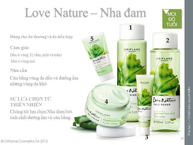 love nature aloe vera chăm sóc làn da nhạy cảm