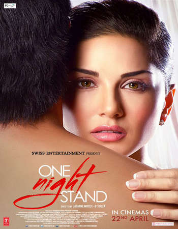 Poster Of One Night Stand 2016 Hindi 120MB HDRip HEVC Mobile Watch Online Free Download Worldfree4u