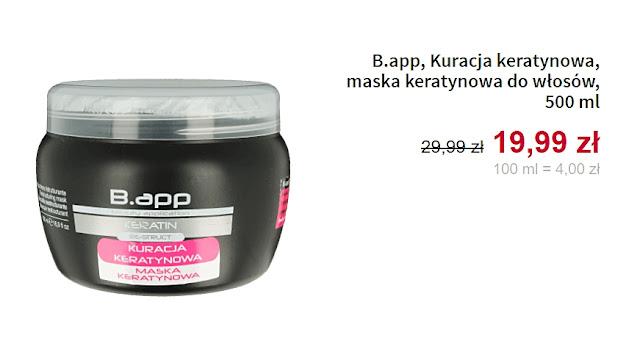 B.app, Kuracja keratynowa - maska do włosów