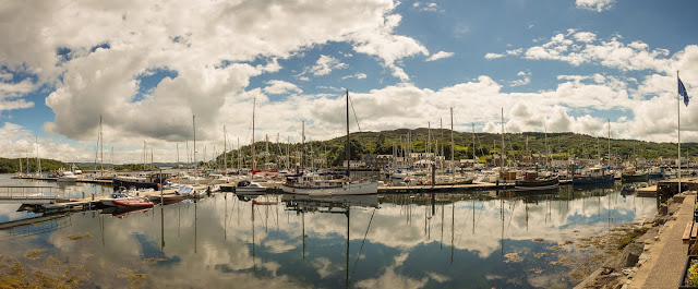 Photo of Tarbert Marina on the west coast of Scotland