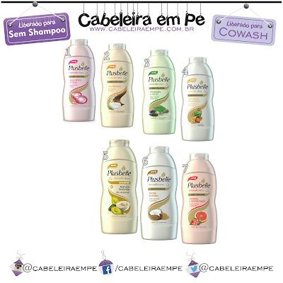 Composição Condicionadores Plusbelle Liberados para No Poo (Sem Shampoo) e Cowash (Low Poo)
