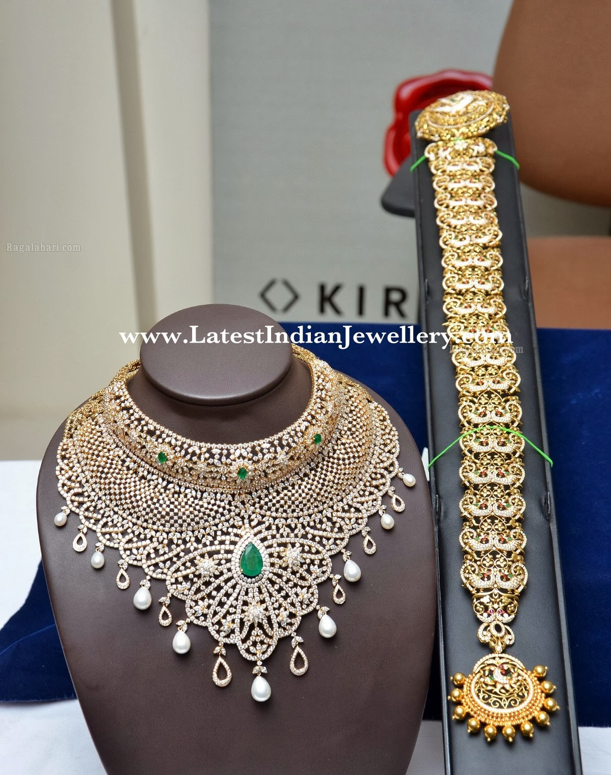 designer diamond bridal necklace