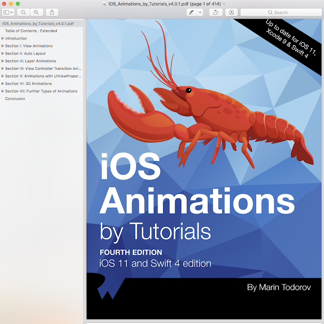 IOS Animations By Tutorials Swift 4 and IOS 11
