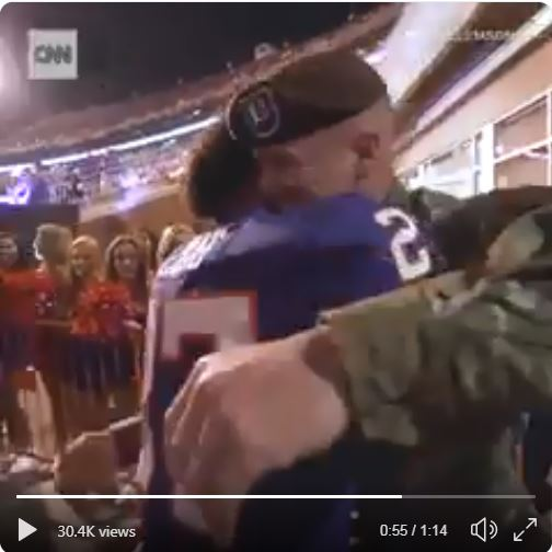 US Soldier reunites with his son