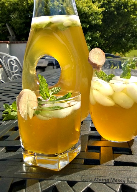 Sweet mint and exotic ginger pair with green tea for a refreshing summertime beverage.
