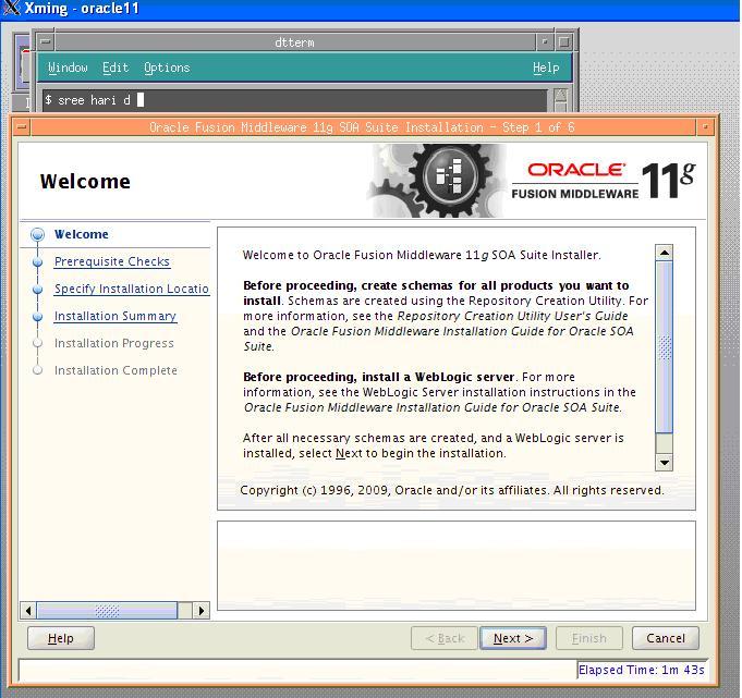Sree Hari: Oracle 11g SOA 11 1 1 2 0 Installation on IBM AIX 6 1