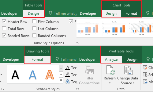 Tab Tools Microsoft Excel