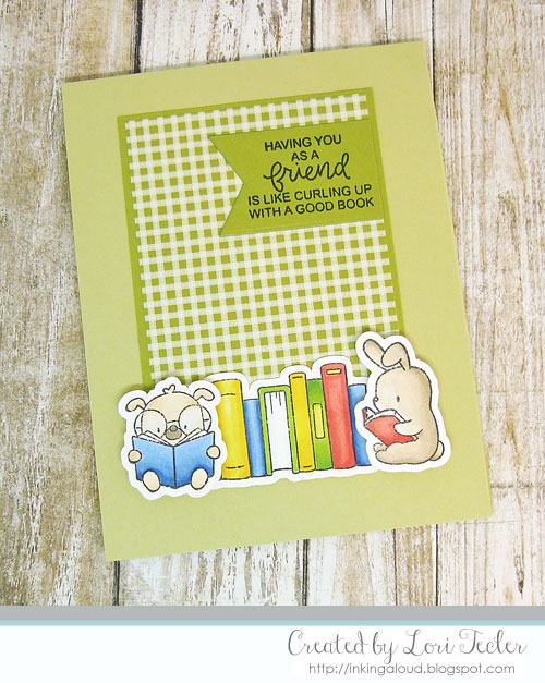 Like Curling Up with a Good Book card-designed by Lori Tecler/Inking Aloud-stamps from Mama Elephant