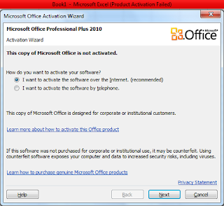 Product Activation failed pada windows 7
