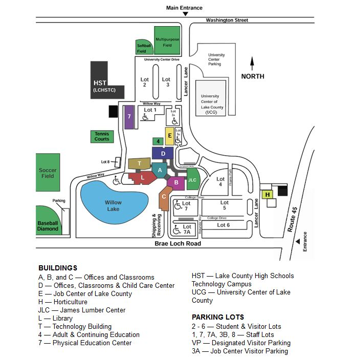 College Of Lake County Map College Of Lake County Grayslake Campus Map | europeancytokinesociety