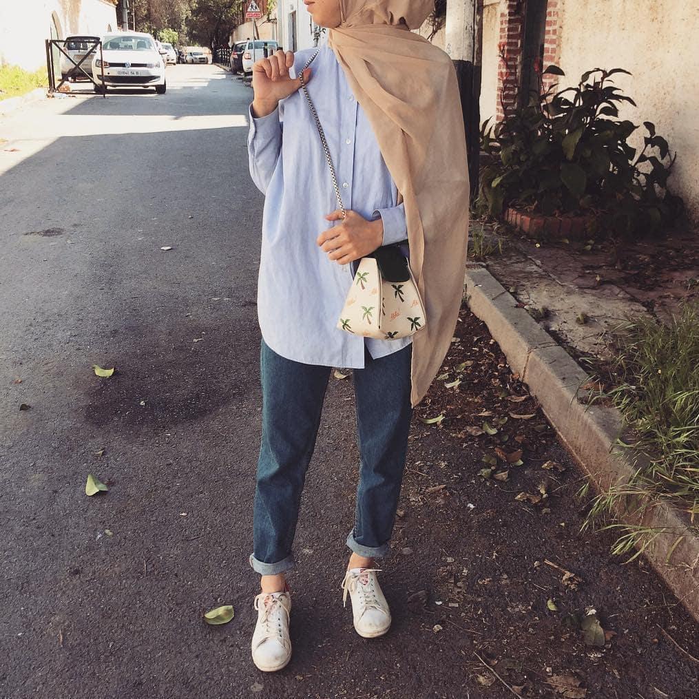 Somme toute, le style cocooning des robes hijab longues n\u0027est pas le seul à  être chic. Ce diaporama de 9 images de hijabs avec jeans vous le prouve
