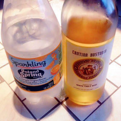 New England Spritzer with Poland Springs Sparkling Water and Cantina Bostonia White Table Wine
