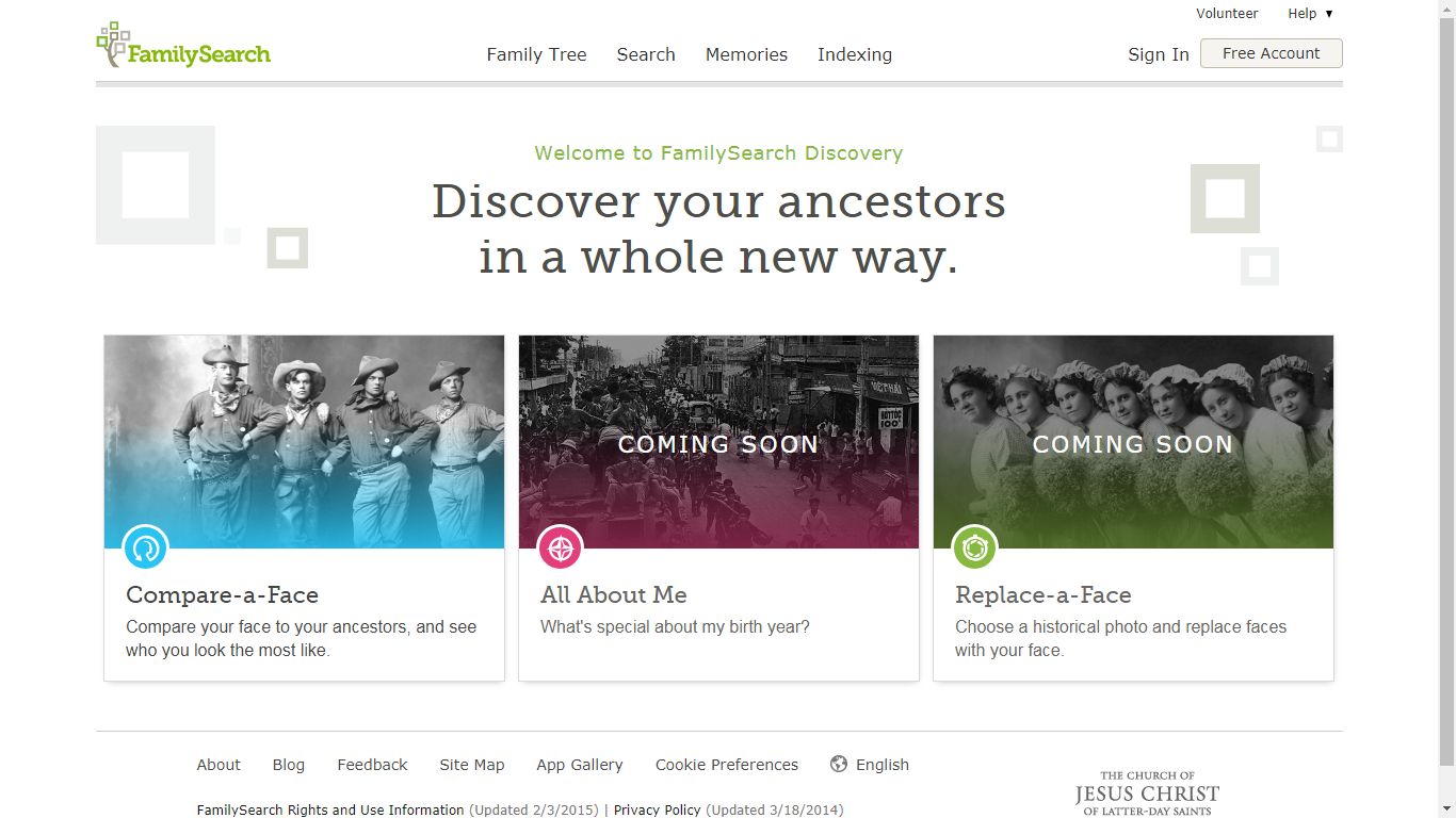 Genea-Musings: Trying Out the FamilySearch Compare-a-Face App