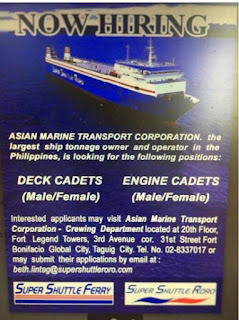 Available car carrier ship jobs for deck and engine cadets join November - December 2018