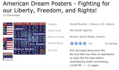 https://www.teacherspayteachers.com/Product/American-Dream-Posters-Fighting-for-our-Liberty-Freedom-and-Rights-2949653