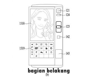 Tablet lipat LG bagian belakang