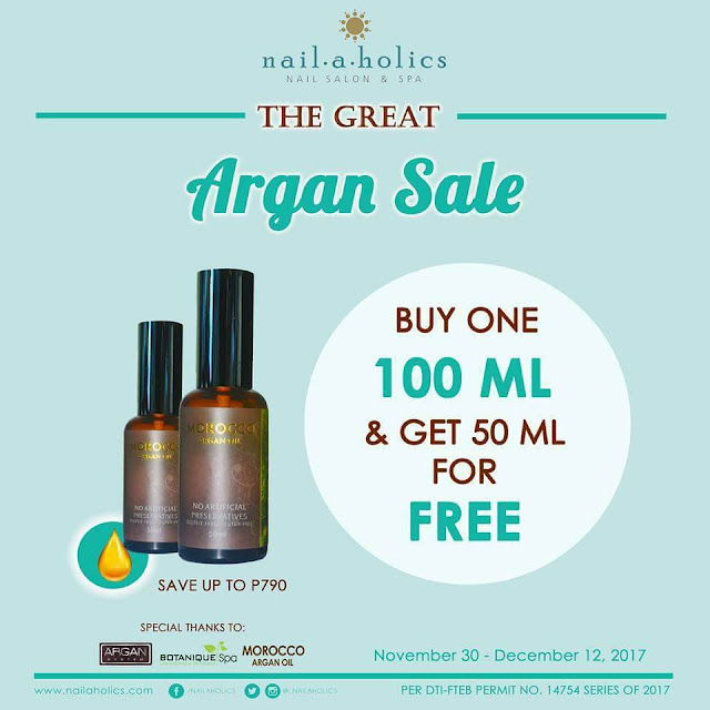 Nailaholics Argan Oil Sale