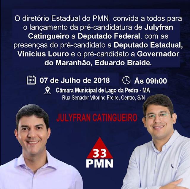 Deputado Eduardo Braide lançará pré candidatura ao governo do estado dia 7 de julho em Lago da Pedra.