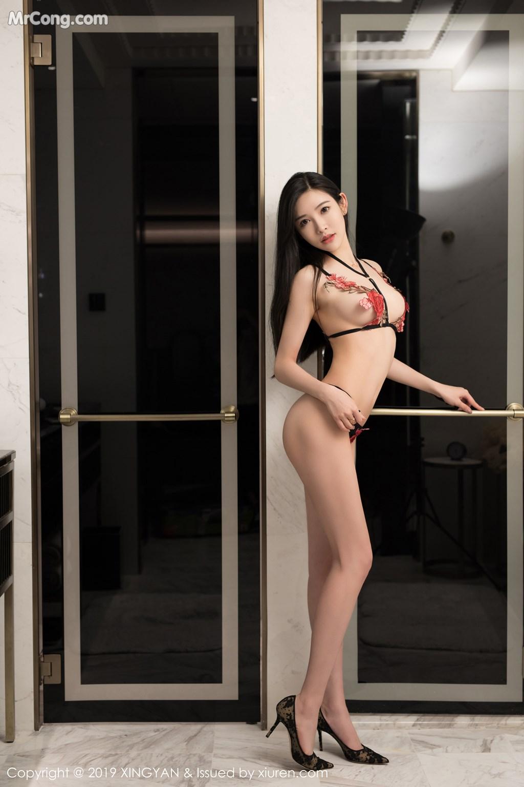 Image XingYan-Vol.121-He-Chen-Xi-MrCong.com-036 in post XingYan Vol.121: He Chen Xi (何晨曦) (49 ảnh)