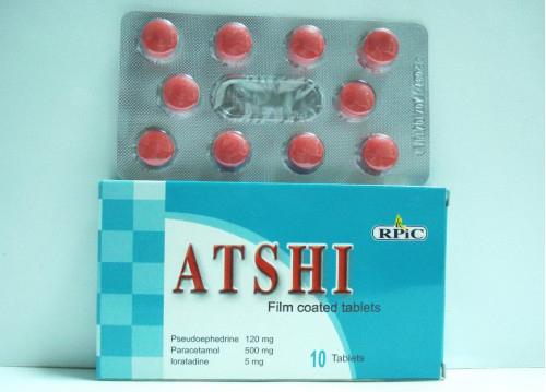 سعر ودواعى إستعمال أتشى Atshi أقراص مسكن ومضاد للحساسية والاحتقان